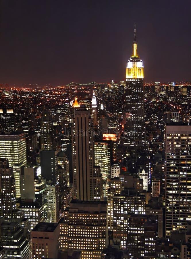 New York la nuit photos libres de droits