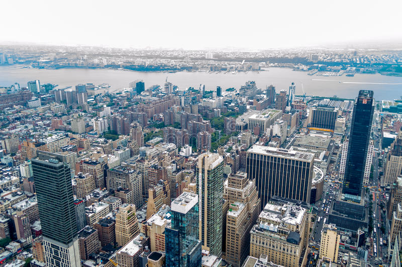 New York. Landscape taken from the top of the Empire State Buidling stock images
