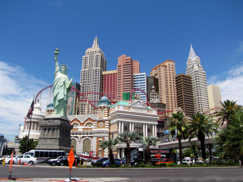 Download New York in Las Vegas redactionele stock foto. Afbeelding bestaande uit vermaak - 11801538