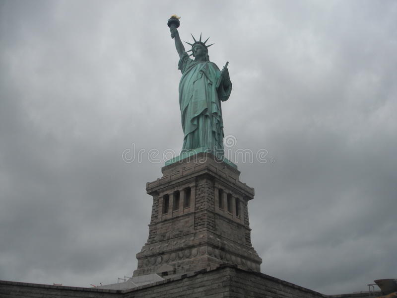 New York liberty island. Statue royalty free stock image