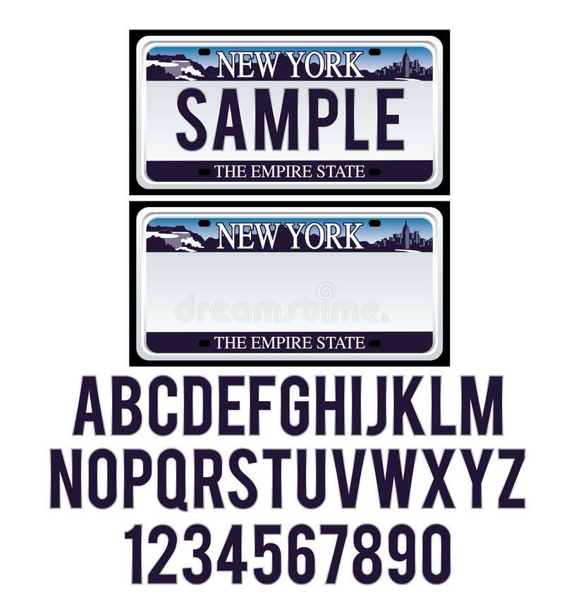 Free New York License Plate Stock Photos - 43429083