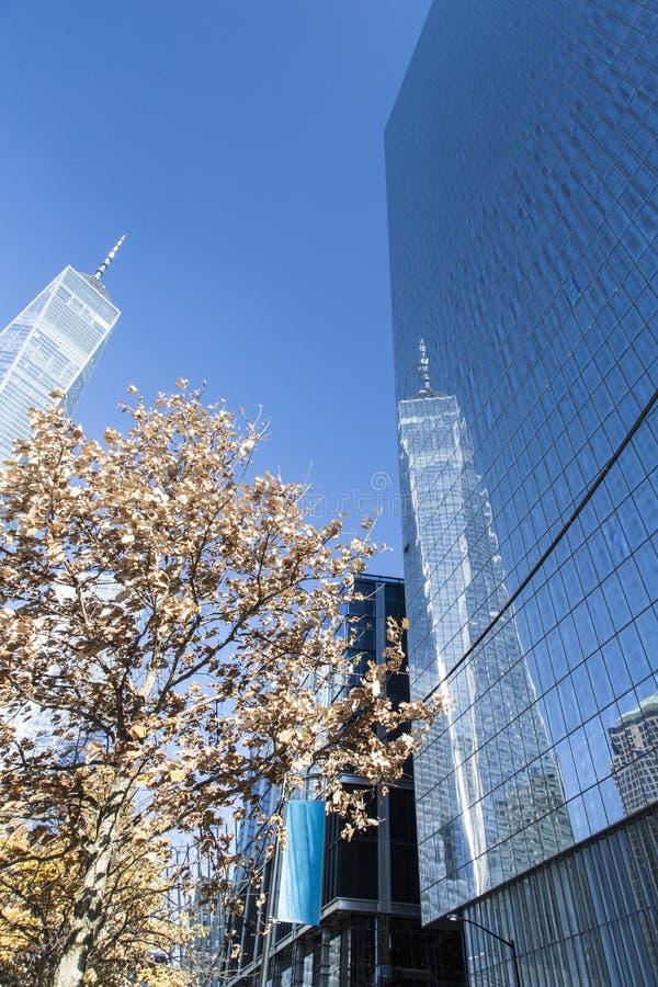 New York, Lower Manhattan et secteur financier images stock