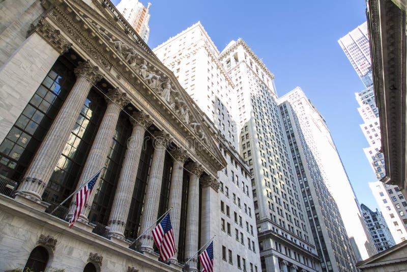 New York, Lower Manhattan et secteur financier photo stock