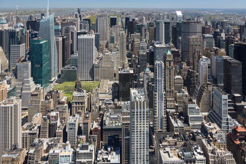 New York, luchtaanzicht van Empire State Building royalty-vrije stock afbeelding