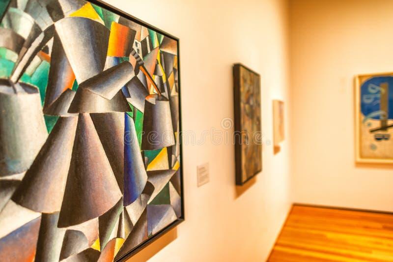 NEW YORK - MAJ 22, 2013: Konstverk på det Moma museet i New York Det royaltyfri fotografi