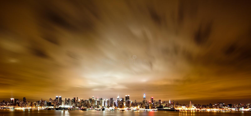 New York Manhattan nachts stockfoto