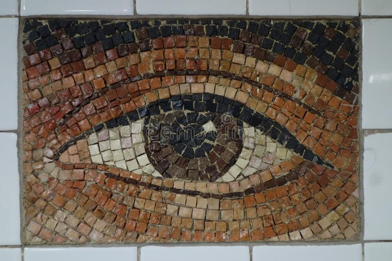 Subway Artwork `Oculus` at Chambers Street Subway station in Manhattan royalty free stock image