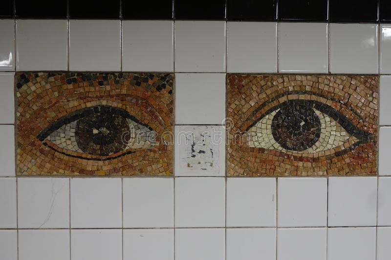 Subway Artwork `Oculus` at Chambers Street Subway station in Manhattan royalty free stock photo