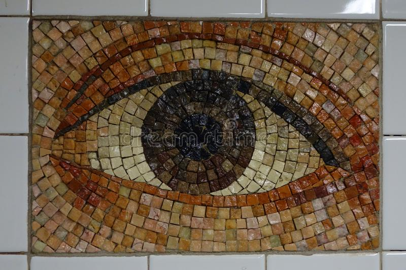 Subway Artwork `Oculus` at Chambers Street Subway station in Manhattan royalty free stock photos