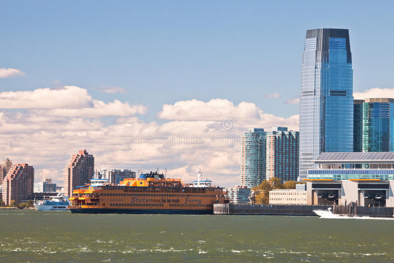 NEW YORK - The massive Staten Island Ferry royalty free stock photo