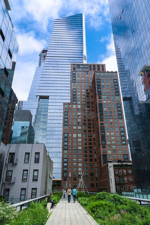 New York - Mening van de Hoge Lijn royalty-vrije stock fotografie