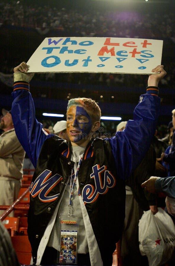 New York Mets fan zdjęcie stock