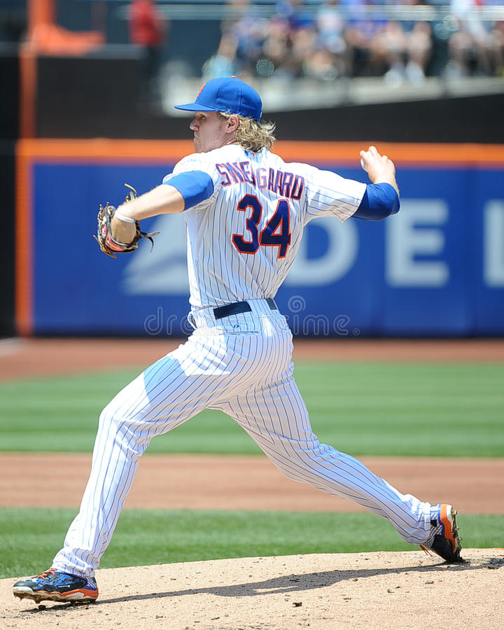New York Mets Noah Syndergaard foto de stock royalty free