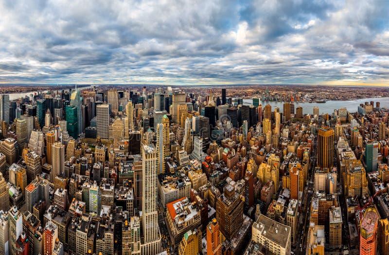 New York midtownskyskrapor royaltyfria foton