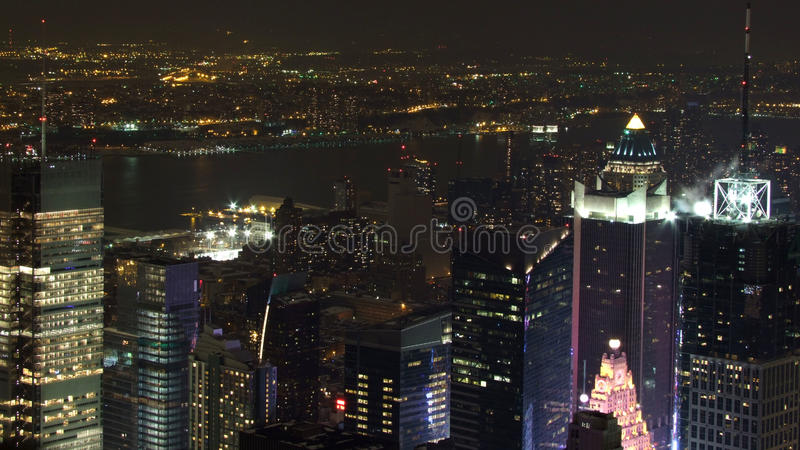 New York na noite fotografia de stock
