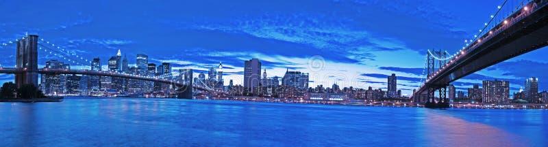 New York na noite fotografia de stock royalty free