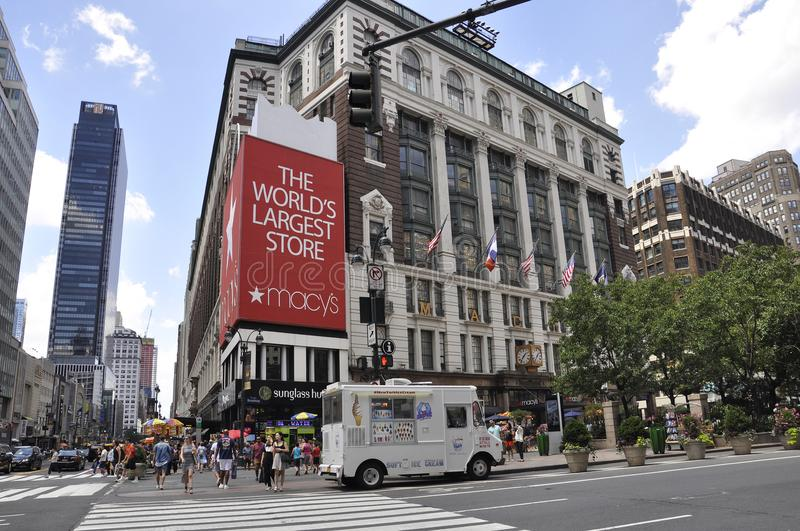New York, 2nd July: Macy`s Store from Herald Square in Midtown Manhattan from New York City in United States stock images
