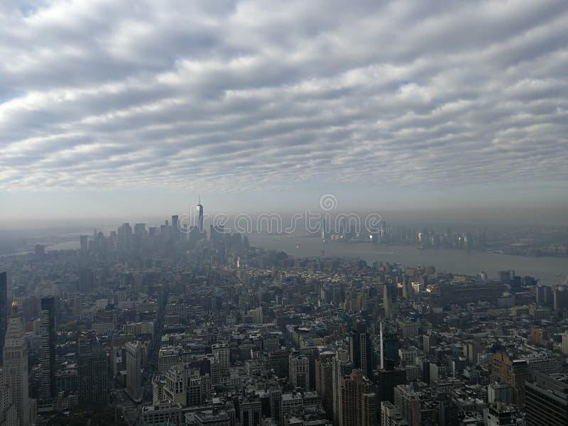 New York nebulosa & x27; opinião de s fotografia de stock royalty free