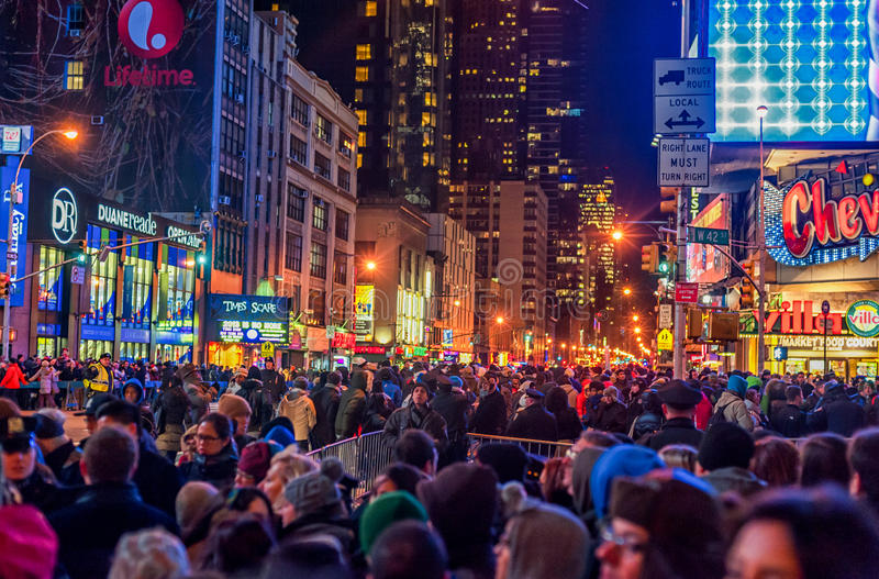 Times Square New Year Editorial Stock Image. Image Of