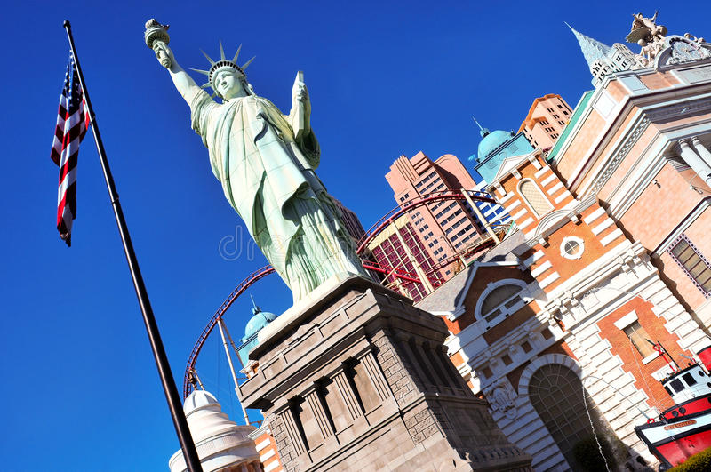 New York-New York Hotel & Casino in Las Vegas stock photography