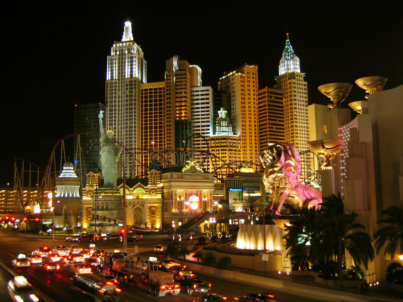 New York New York Hotel Casino, Las Vegas, Nevada, USA royalty free stock photos