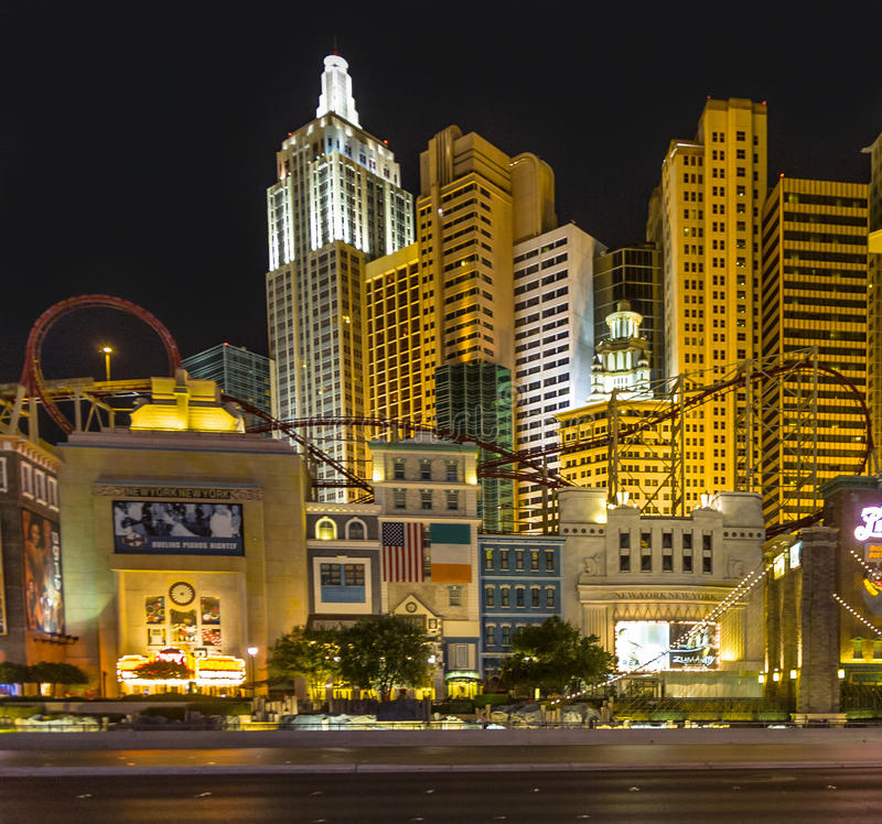 New York-New York located on the Las Vegas Strip is shown in Las royalty free stock photos