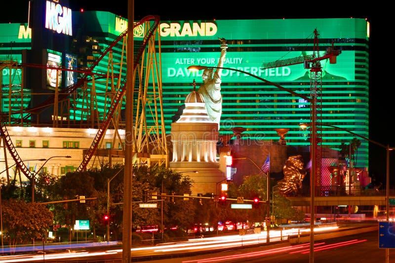 New York New York och Mgm Grand arkivfoto