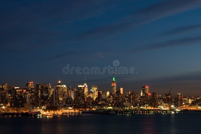 New York at night royalty free stock photography