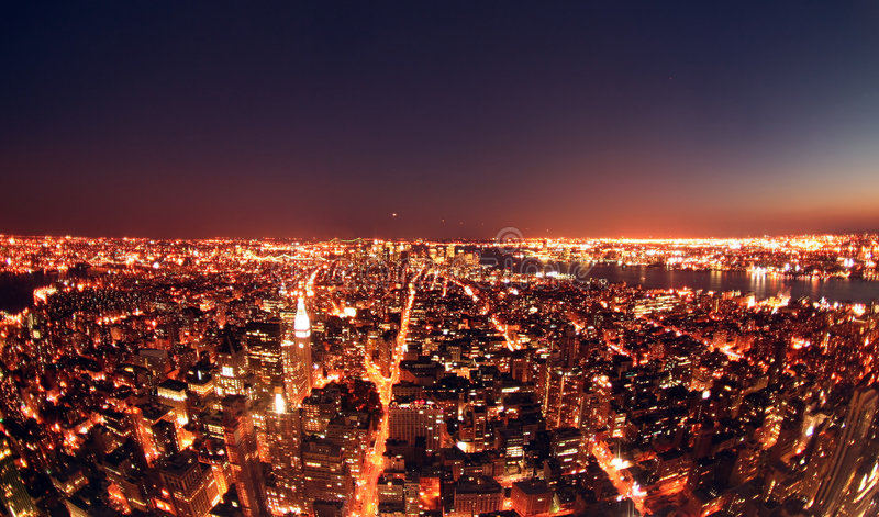 Download New York at Night stock photo. Image of built, high, street - 7217776