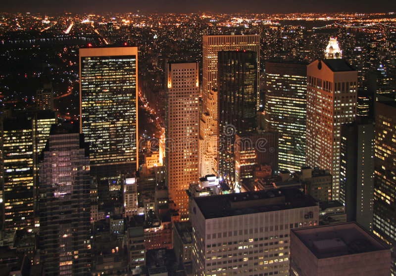 Download New York at night stock image. Image of building, american - 894611