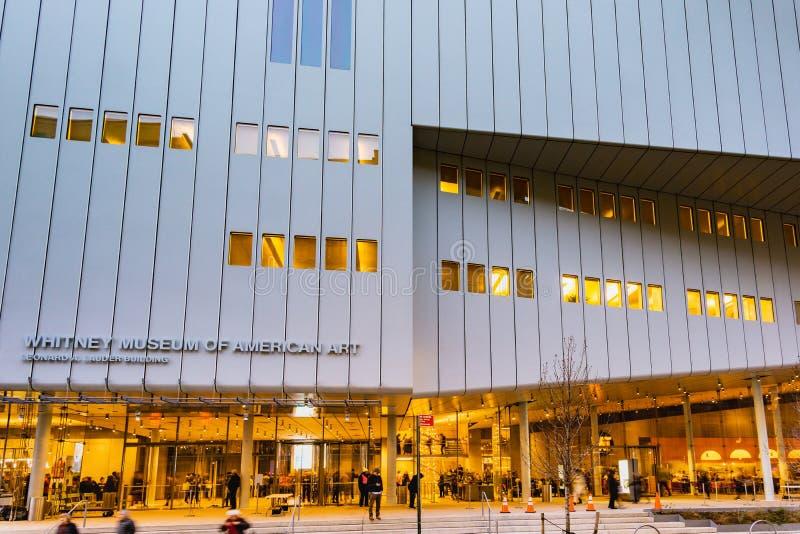 New York NY/eniga Tillstånd-December 9, 2018: Whitney Museum av Amer arkivbild