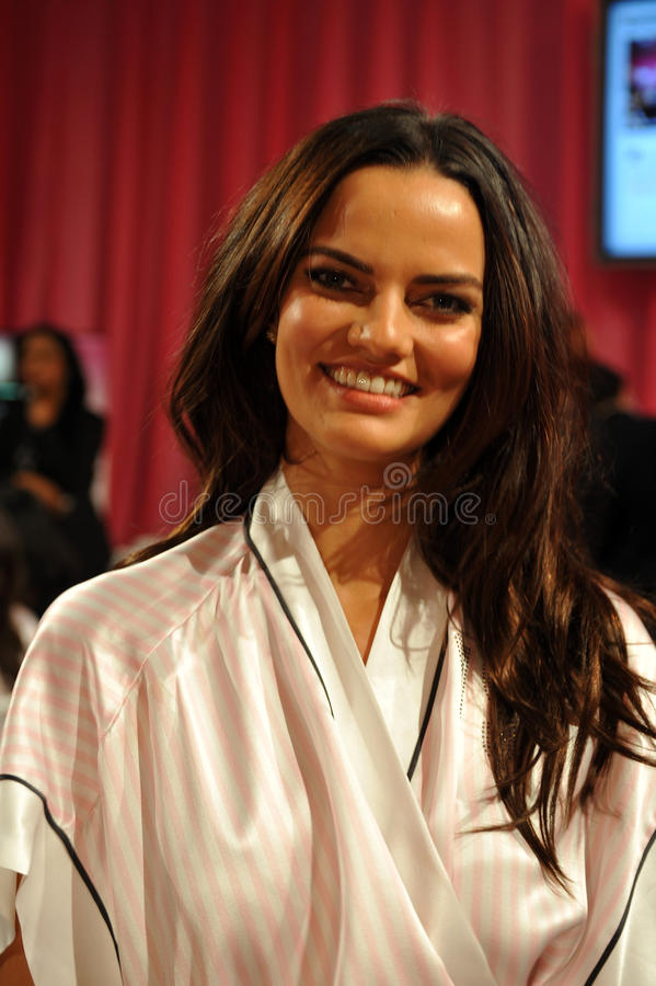 NEW YORK, NY - NOVEMBER 13: Model Barbara Fialho poses at the 2013 Victoria s Secret Fashion Show