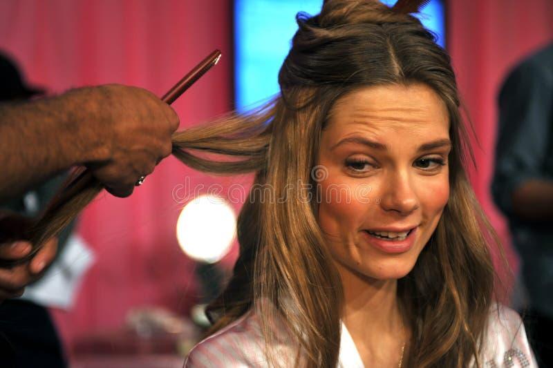 NEW YORK, NY - NOVEMBER 13: Model Josephine Skriver Making Faces At The 2013 Victoria S Secret Fashion Show Editorial Photo