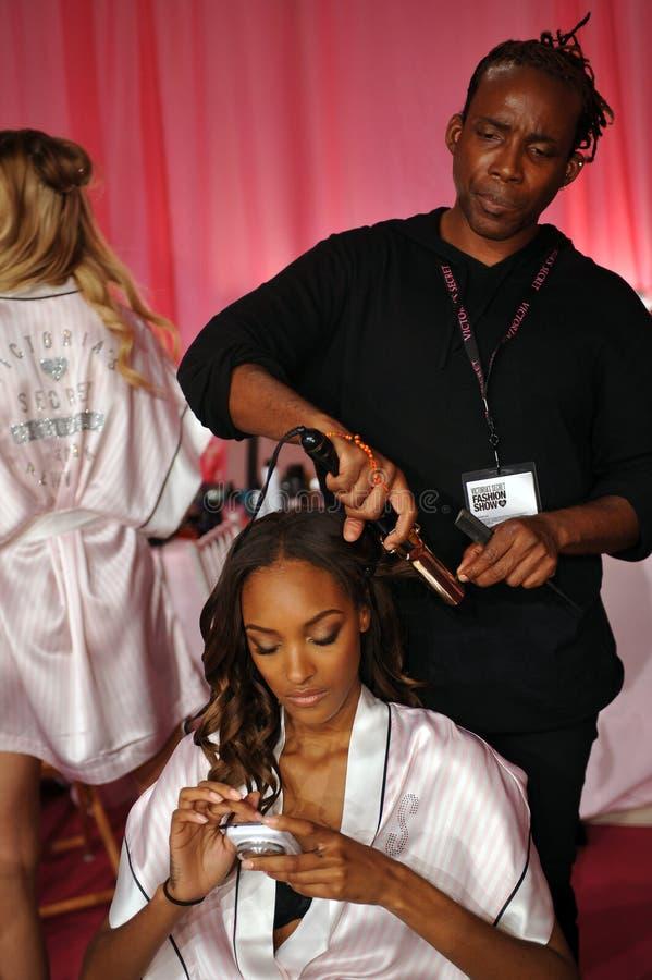 Download NEW YORK, NY - NOVEMBER 13: Model Maria Borges  Prepares At The 2013 Victoria's Secret Fashion Show Editorial Photo - Image: 35259511