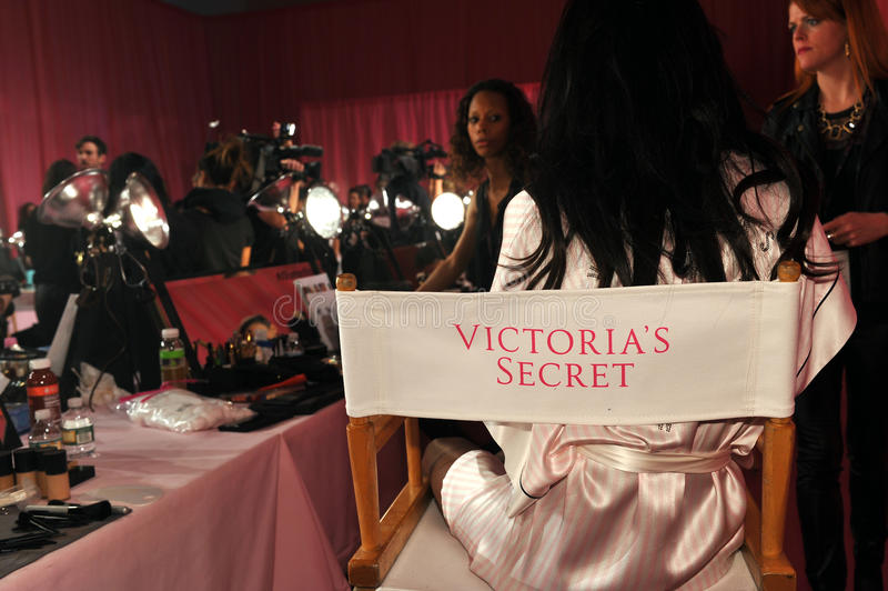 NEW YORK, NY - NOVEMBER 13: A View Of Atmosphere And Make-up Chair Backstage At The 2013 Victoria S Secret Fashion Show Editorial Photo