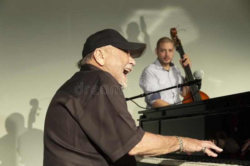 Jazz Loft Party 2018. New York, NY - October 13, 2018: Eddie Palmieri Afro-Carribean Jazz Sextet performs at Loft Party A Night for the Soul for Jazz Foundation stock images