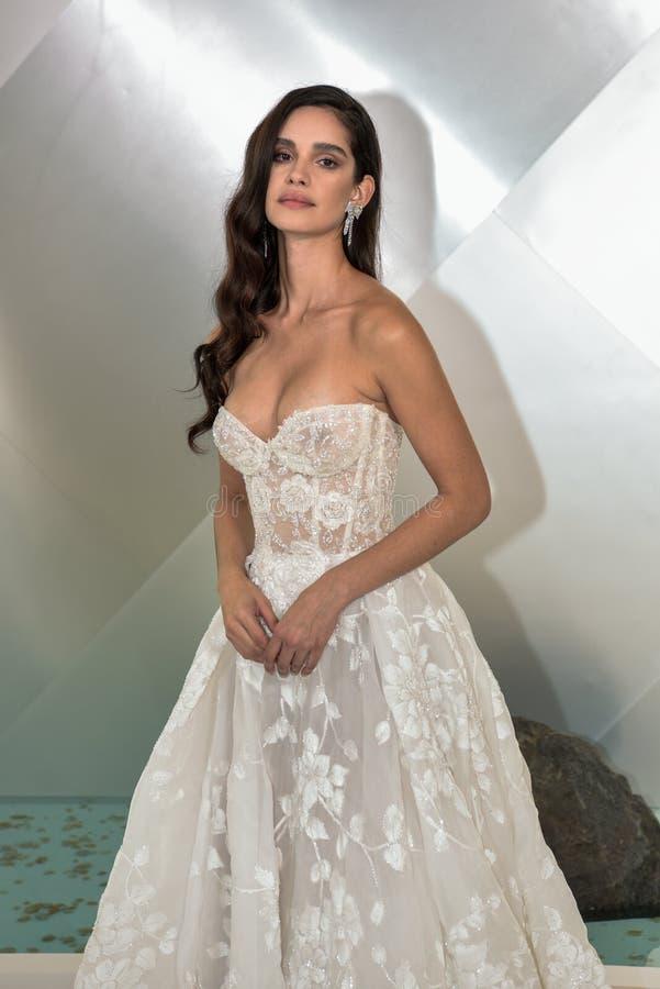 A Model Posing During The Galia Lahav Fall 2020 Bridal