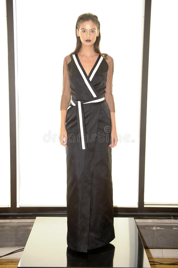 Free NEW YORK, NY - SEPTEMBER 03: A Model Poses At The Alina German Presentation Stock Photography - 44193722
