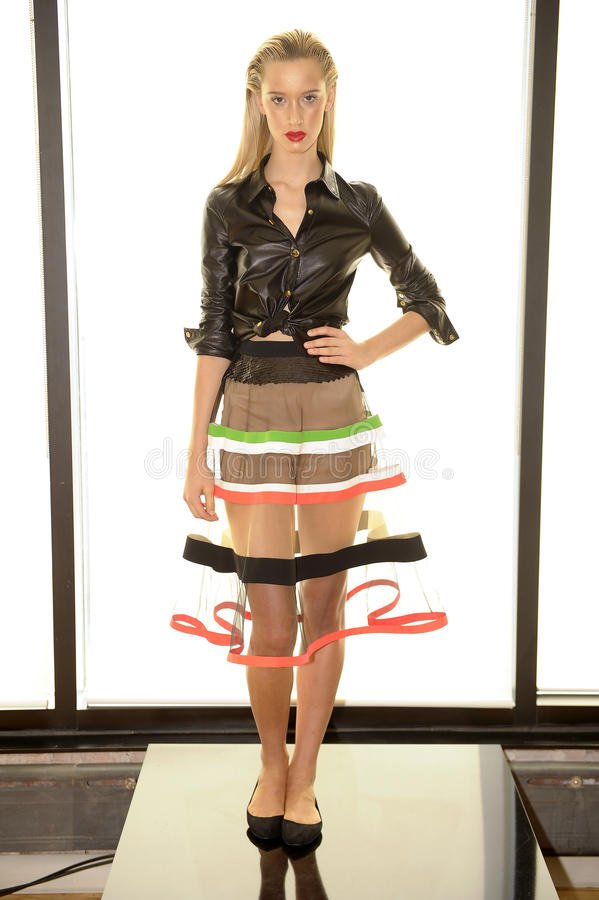 Free NEW YORK, NY - SEPTEMBER 03: A Model Poses At The Alina German Presentation Royalty Free Stock Photography - 44193777