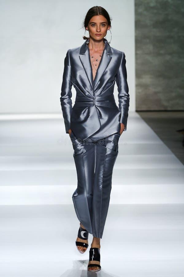 Free NEW YORK, NY - SEPTEMBER 05: Model Carolina Thaler Walks The Runway At The Zimmermann Fashion Show Stock Images - 46983894