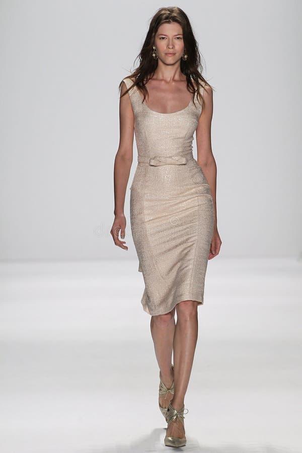 Free NEW YORK, NY - SEPTEMBER 09: A Model Walks The Runway At The Badgley Mischka Fashion Show Royalty Free Stock Image - 46700136