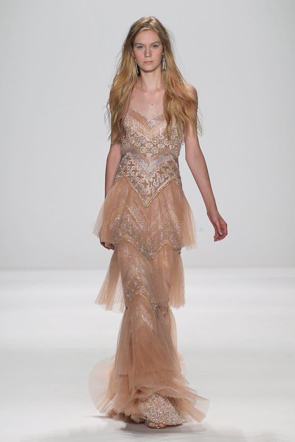 Free NEW YORK, NY - SEPTEMBER 09: A Model Walks The Runway At The Badgley Mischka Fashion Show Stock Photos - 46700163