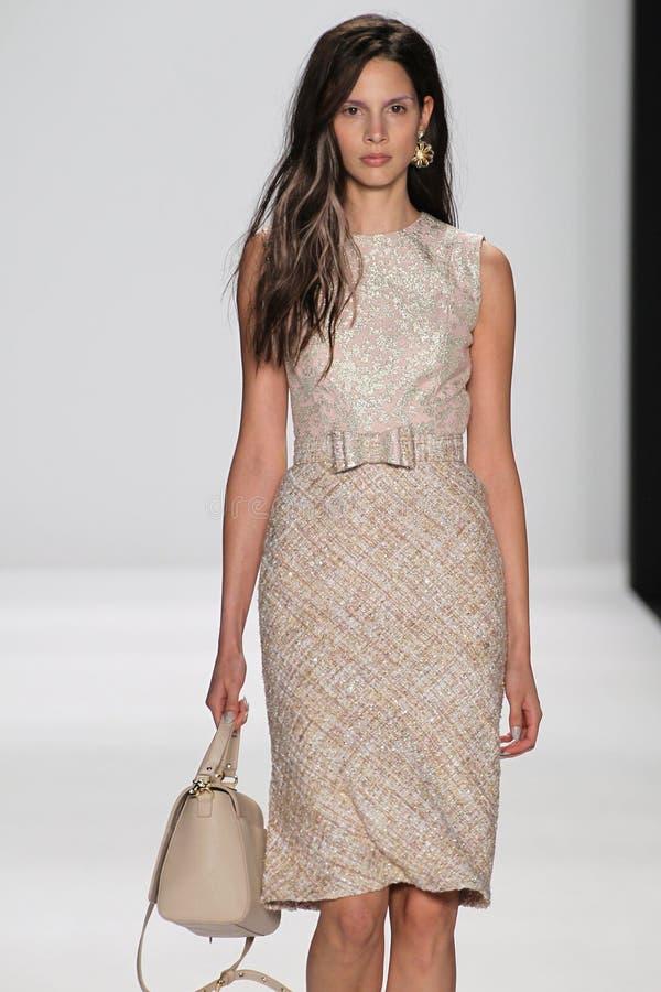 Free NEW YORK, NY - SEPTEMBER 09: A Model Walks The Runway At The Badgley Mischka Fashion Show Stock Images - 46700164
