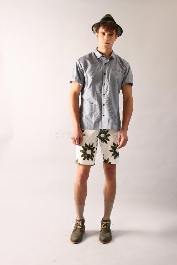 NEW YORK, NY - 6 SEPTEMBRE : Un modèle pose à la présentation de mode de Sergio Davila photographie stock libre de droits