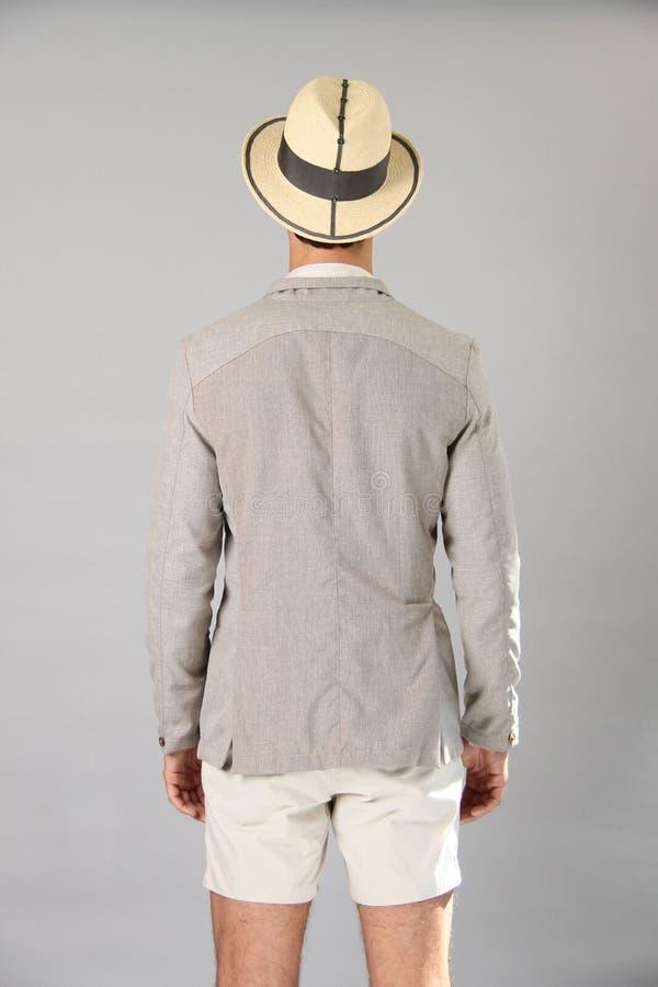 NEW YORK, NY - 6 SEPTEMBRE : Un modèle pose à la présentation de mode de Sergio Davila photos libres de droits