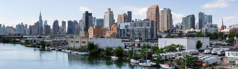 New York, NY/U.S.A. - 1° giugno 2018: Vista dell'orizzonte di Midtown di Manhattan fotografia stock