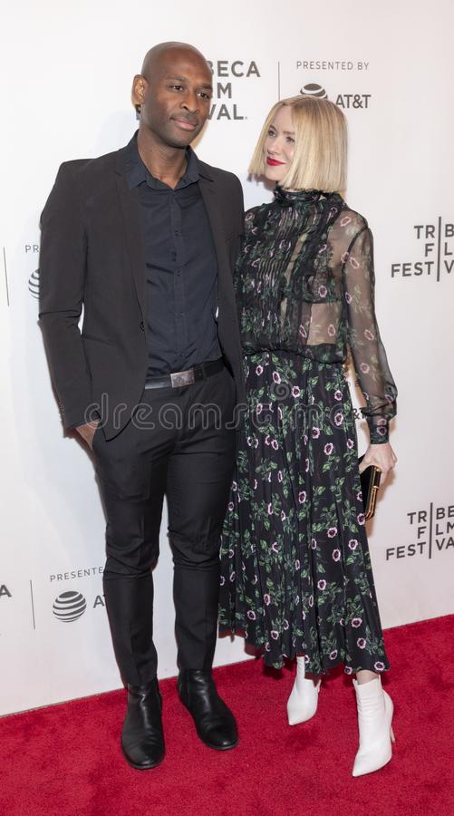 TFF 2019 - Luce. New York, NY, USA - April 28, 2019: Julius Onah and Naomi Watts attend `Luce` premiere during 2019 Tribeca Film Festival at The Stella Artois stock images