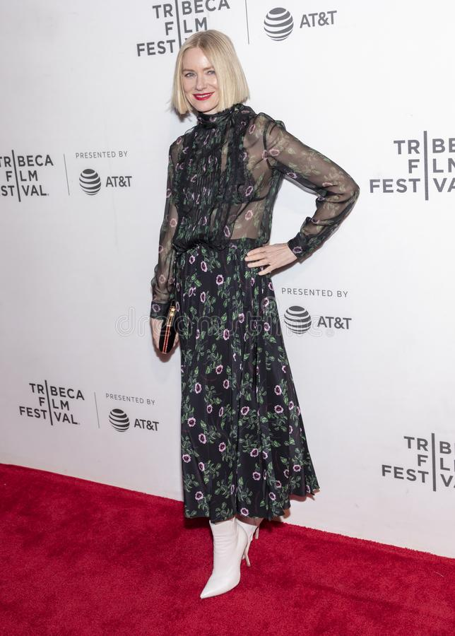 TFF 2019 - Luce. New York, NY, USA - April 28, 2019: Naomi Watts attends `Luce` premiere during 2019 Tribeca Film Festival at The Stella Artois Theatre stock image