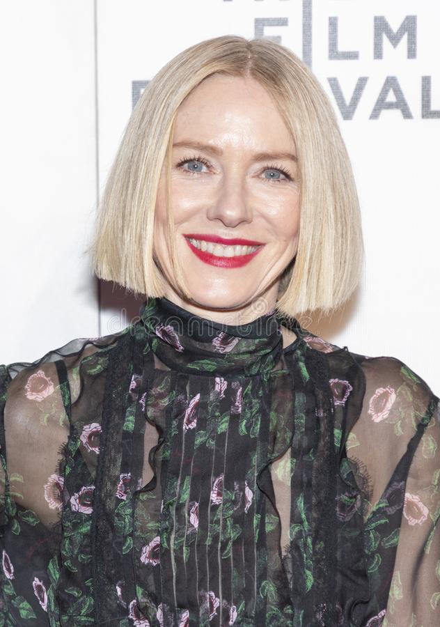 TFF 2019 - Luce. New York, NY, USA - April 28, 2019: Naomi Watts attends `Luce` premiere during 2019 Tribeca Film Festival at The Stella Artois Theatre royalty free stock photography