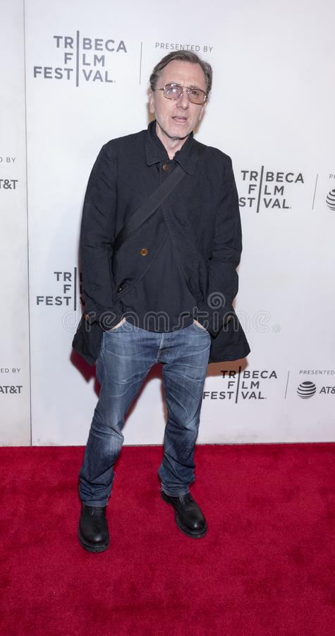 TFF 2019 - Luce. New York, NY, USA - April 28, 2019: Tim Roth attends `Luce` premiere during 2019 Tribeca Film Festival at The Stella Artois Theatre, Manhattan stock image